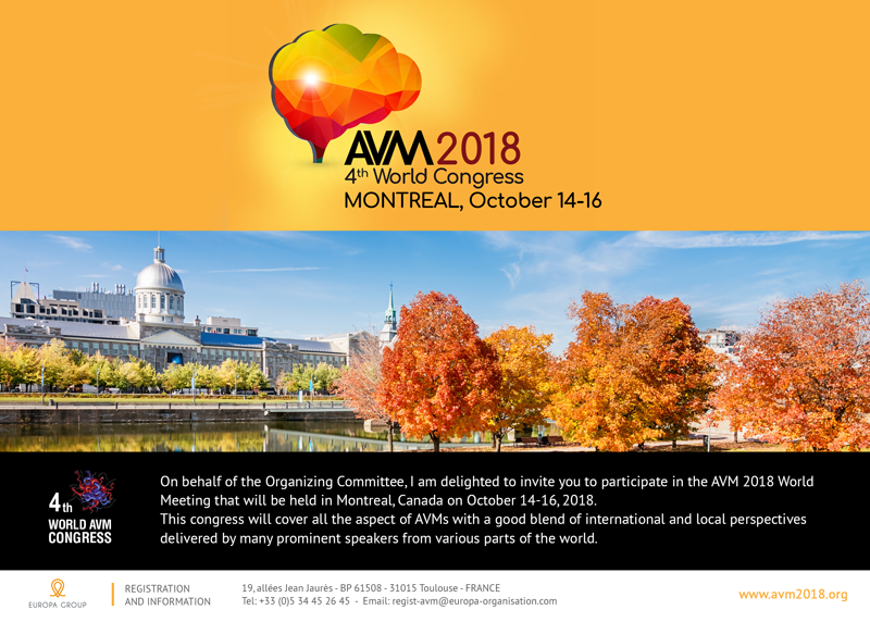 4th AVM Congres, 2018, Montreal