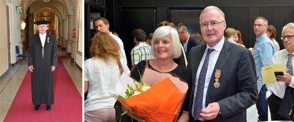 Karel Terbrugge rewarded and his wife Yoka.